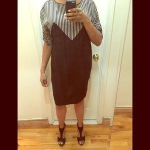 H&M black and gray dress